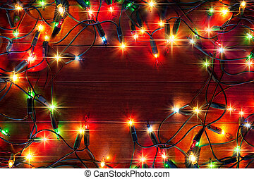 ライトに色を塗りなさい, クリスマス, 背景
