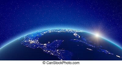 ライト, アメリカ, 都市, 中央である