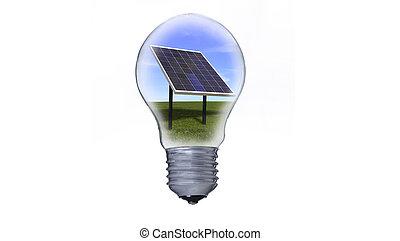 ライト, エネルギー, 太陽, bul, パネル
