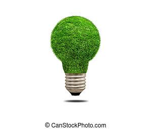 ライト, エネルギー, 概念, エコロジー, 電球