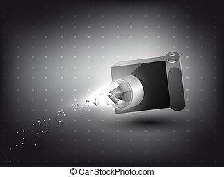 ライト, カメラ, 効果, 3d