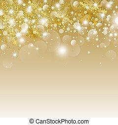 ライト, クリスマス, bokeh, デザイン, 背景, 雪片