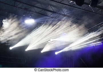 ライト, スポット, ステージ