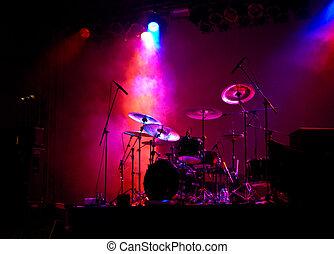 ライト, ドラム