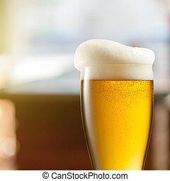 ライト, ビール, pub, ガラス