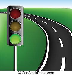 ライト, フレーム, 交通, 道
