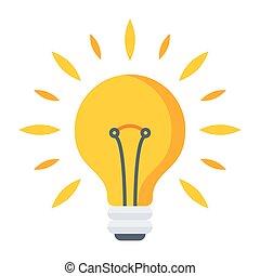 ライト, ベクトル, 電球