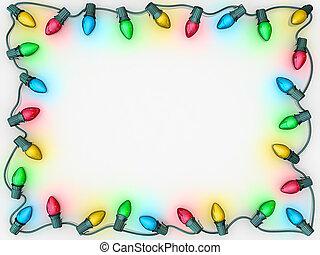 ライト, ボーダー, クリスマス