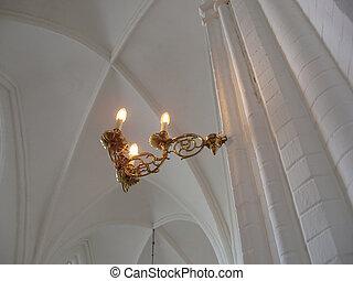 ライト, 中に, 教会