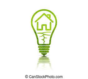 ライト, 中, 電気である, 電球, 家