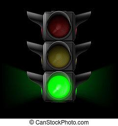 ライト, 交通, 緑