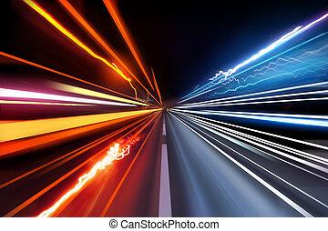 ライト, 交通, 道