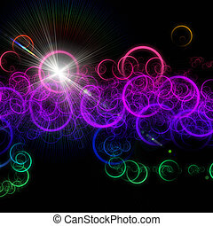 ライト, 円, デザイン, 未来派, 背景