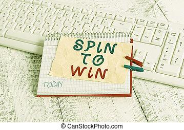 ライト, 写真, 執筆, 宝くじ, ギャンブル, カジノ, win., clothespin, 幸運, 手, あなたの, 危険, ビジネス, ゲーム, 概念, 運, 提示, くぎ付けにされた, wooden., テキスト, ノート, シート, メモ, 試み, 回転