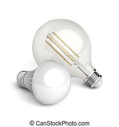 ライト, 別, リードした, 電球