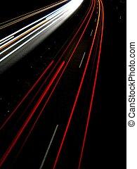 ライト, 夕方, 交通