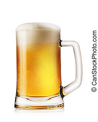 ライト, 大袈裟な表情をしなさい, ビール, 泡状である