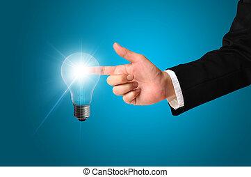 ライト, 感動的である, 考え, ビジネス男