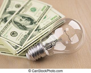 ライト, 手形, ドル, 前部, 電球, 山