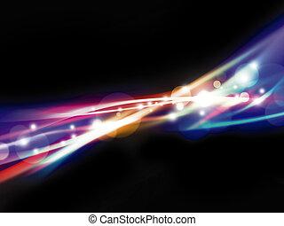 ライト, 抽象的なデザイン, カラフルである, 背景