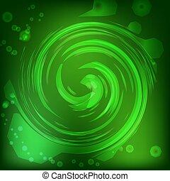 ライト, 抽象的, イラスト, バックグラウンド。, bokeh, 緑