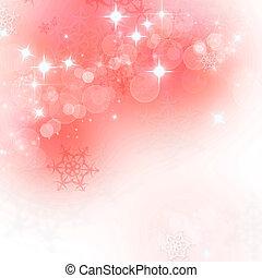 ライト, 抽象的, クリスマス, 背景, ∥で∥, 雪片