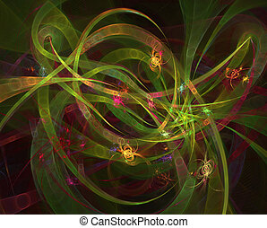 ライト, 抽象的, ネオン, イラスト, ぼやけた動議, 白熱, カーブ, 背景, 似ていること, 未来派