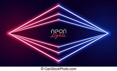 ライト, 抽象的, ネオン, 幾何学的, 背景