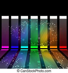 ライト, 抽象的, ベクトル, イラスト, 光っていること