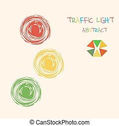 ライト, 抽象的, 交通, カラフルである, バックグラウンド。