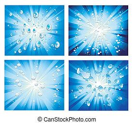 ライト, 抽象的, 泡, 背景