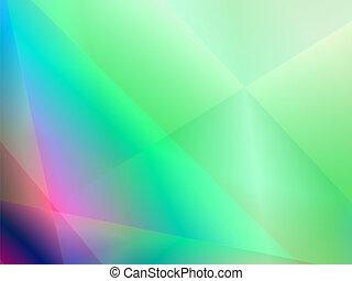 ライト, 抽象的, 波, 緑の背景, 光沢がある