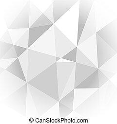 ライト, 抽象的, 灰色, 背景, 幾何学的