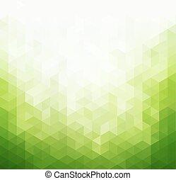 ライト, 抽象的, 緑, テンプレート, 背景