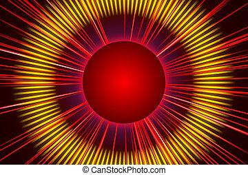 ライト, 抽象的, 背景, 赤