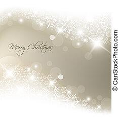 ライト, 抽象的, 銀, 背景, クリスマス