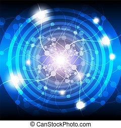 ライト, 抽象的, 電気である, 背景
