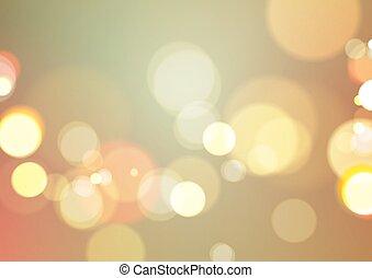 ライト, 抽象的, bokeh, 背景, 型