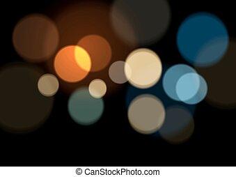 ライト, 抽象的, bokeh, 背景