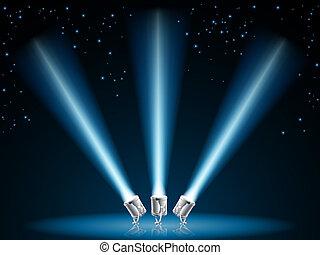 ライト, 捜索しなさい, スポット, ∥あるいは∥, イラスト