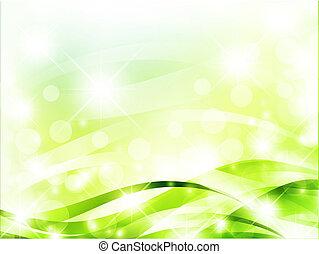 ライト, 明るい, 緑の背景