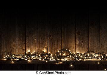 ライト, 棚, クリスマス