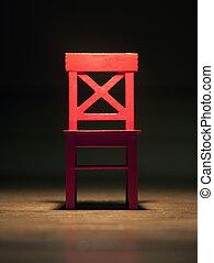 ライト, 椅子, 赤
