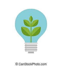 ライト, 植物, bulb., 中