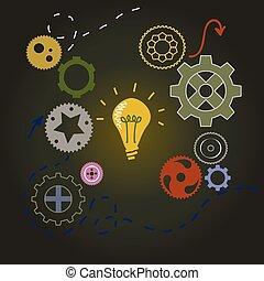 ライト, 概念, 考え, 電球