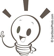 ライト, 漫画, 電球