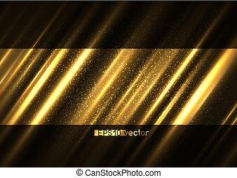 ライト, 照ること, 表面, 背景, 金