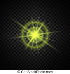 ライト, 白熱, きらめき, 黄色
