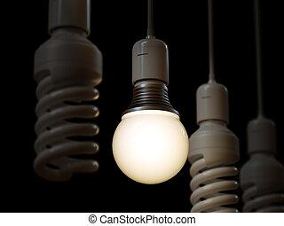 ライト, 白熱, 一人一人, 電球, 照明, 他
