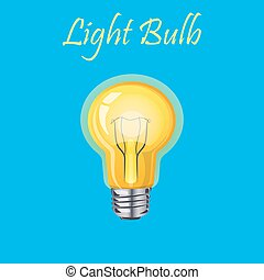 ライト, 白熱, 黄色, 電球